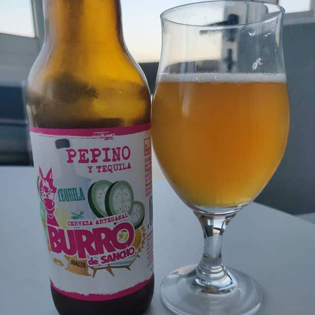 Cerveza Burro de Sancho Pepino y Tequila