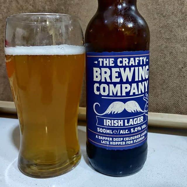 Cerveza The Crafty Irish Lager.