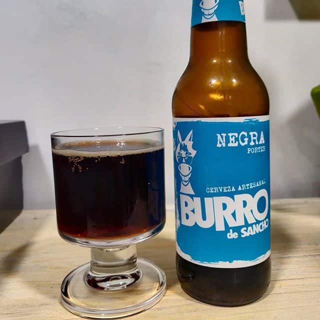 Cerveza Burro de Sancho Negra