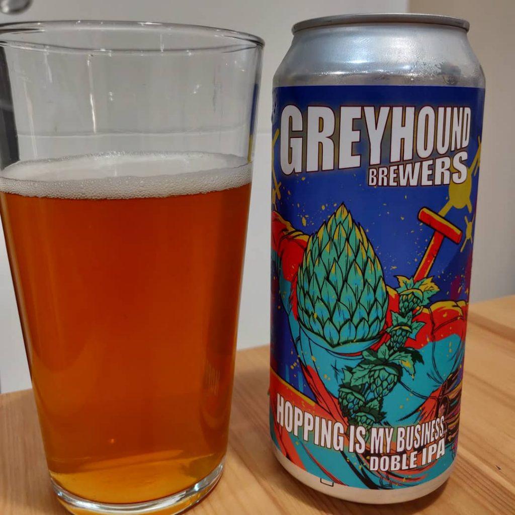 Cerveza Greyhound Doble IPA