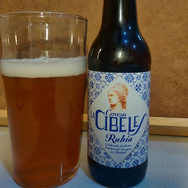 Cerveza La Cibeles Rubia