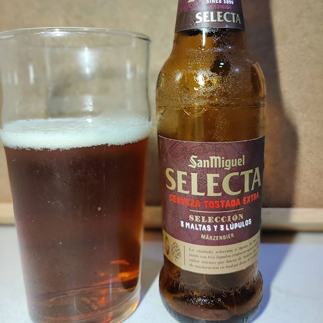 Cerveza San Miguel Selecta Selección.