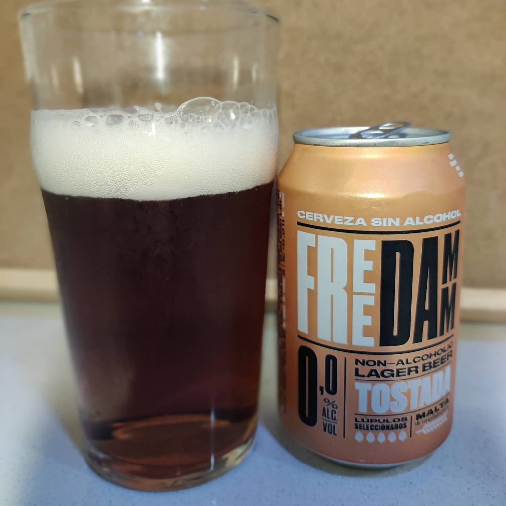 Cerveza Freee Damm Tostada sin alcohol