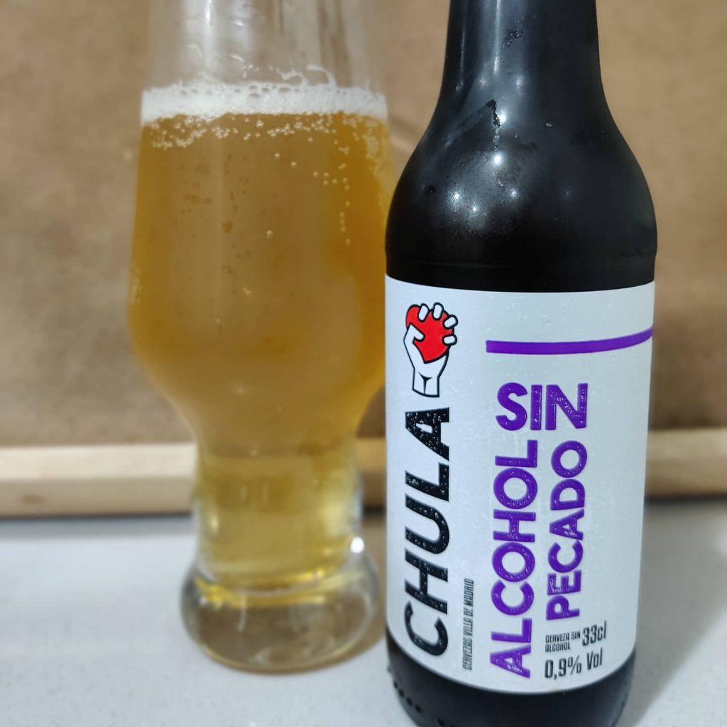 Cerveza Alcohol sin pecado de Chula 3