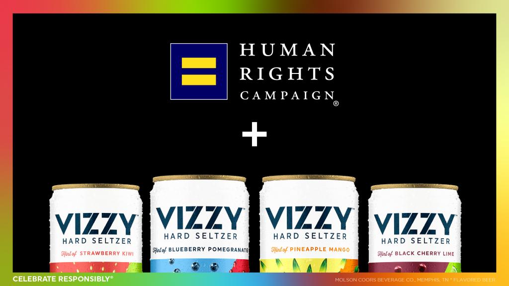Vizzy Hard Seltzer de Molson Coors dona $ 1 millón a la campaña de derechos humanos 13